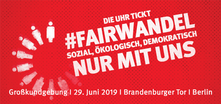 Fairwandel: Kundgebung in Berlin 2019